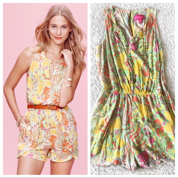 6dbd454e26018 Lilly Pulitzer for Target Dresses & Skirts - Lilly For Target Yellow Romper  - Medium